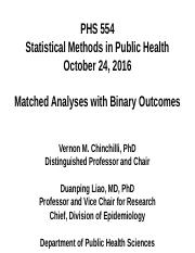 PHS 554 (2016_10_24 - Matched Analyses with Binary Outcomes)