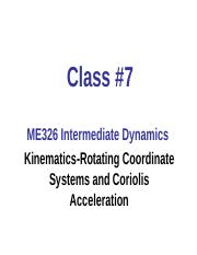 C7-Kinematics-Rotating Coordinates and Coriolis Acceleration Post.ppt