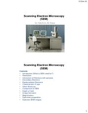 Electron Microscopy (SEM-TEM)-Lectures