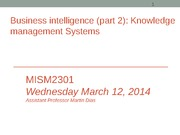 MISM2301 knowledge mgt systems (Session 24)-Sec 4(1)
