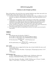 Textbook end of chapter questions - solutions