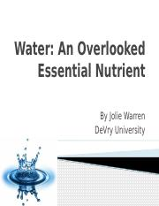 ilab water an overlooked essential Water – an overlooked essential nutrient by emma published september 6, 2016 updated december 27, 2017 whenever we consider the nutrients that our body requires to function, we normally automatically think about all the different food types that we can eat in order to keep us from feeling hungry, fuel our daily activities and assist in .