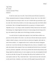 Personal Essay rough draft 2