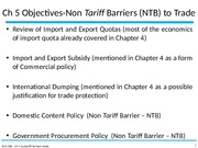 ch5- Nontariff barriers to trade (NTB)