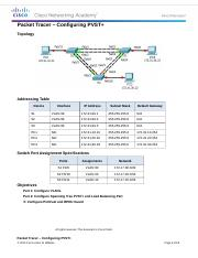 2.3.1.5 Packet Tracer - Configuring PVST Instructions