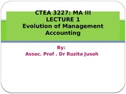 LECTURE 1A_Evolution of Management Accounting