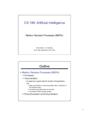 cs188 lecture 8 and 9 -- MDPs 2PP.pdf