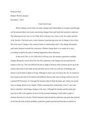 purple hibiscus essay johnson professor pratt literature  2 pages final lit essay