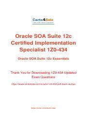 1Z0-434 Exam Dumps Questions Updated 2018 pdf - Oracle SOA Suite 12c