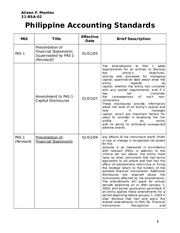 Philippine Accounting Standards