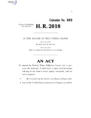 HR 2018 Repeal Clean Water Act 2011