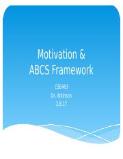 Motivation & ABCS Framework (2.8.17)