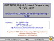 Introduction To OOP (2)