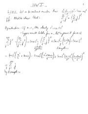 Advanced Calc 1: Homework 1 Solutions