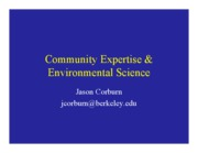 12-05-08+-+Community+Expertise+and+Environmental+Science-Corburn