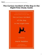 Curious Incident Study Guide