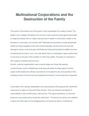 Multinational Corporations and the Destruction of the Family - Copy.docx