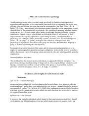allies and transformation psychology.docx