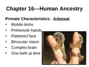 "Biology 121 Chapter 16â€""Human Ancestry _ Eugenics-1"