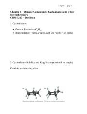 Chapter 4 - Organic Compounds - Cycloalkanes and Their Stereochemistry
