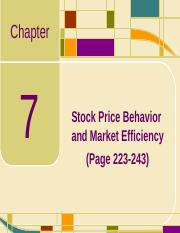 Chap07_Stock Price Behavior and Market Efficiency.ppt
