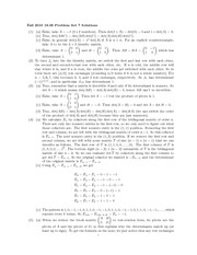 Problem Set 7 Solution Fall 2010 on Linear Algebra
