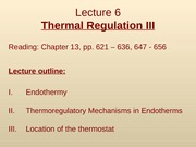 Lec6 - Thermal Regulation III