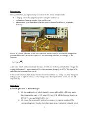 Oscilloscope and RC Circuits