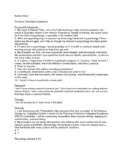 Rost, Nathan- Personal Statement