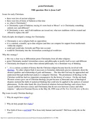 Astronomy 203_Lecture Notes on protoChristianity