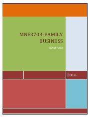 MNE3704-Family Business Question and Solutions 2016