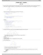 CS 112 Fall 2014 - Problem Set 7 Solution