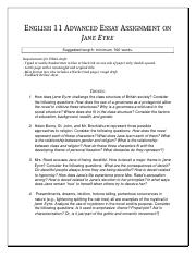 English 11 Advanced Essay Assignment on Jane Eyre.doc