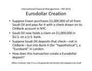 Eurodollar Creation