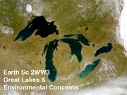 ES 2WW3 - Lecture 10 - Great Lakes and Environmental Concerns - A2L-1