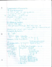 MAT 145 Combination Functions Notes