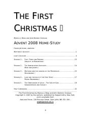 FIRST CHRISTMAS - ADVENT STUDY 2008 Word 97-2003.doc