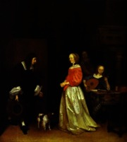 the suitor's Visit by gerard ter borch