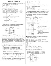 Lecture 29 on Precalculus