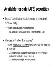 Additional slide for available-for-sale (AFS) securities.pptx