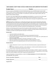 ANNE ARUNDEL COUNTY PUBLIC SCHOOLS MOBILE DEVICE USER AGREEMENT FOR STUDENTS.docx
