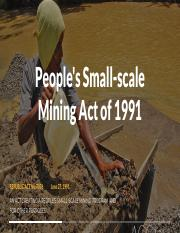 People's Small-scale Mining Act of 1991 - RA - 7076.pdf