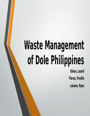 Waste Management of Dole Polomolok.pptx