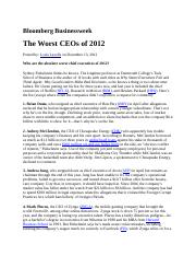 The Worst CEOS of 2012 Bloomberg Businessweek(1).docx