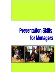 9.Presentation Skills for Managers