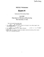 Exam1-2009-solutions