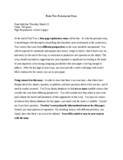 Exploratory Essay Examples Assignment