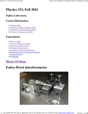 Physics 331_ Fabry-Perot Interferometer