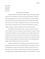 my worst day in college paper 2