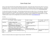 Study Card for final exam
